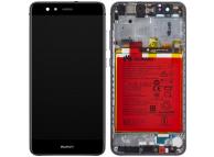 Display - Touchscreen Huawei P10 Lite, Cu Rama, Acumulator si piese, Negru 02351FSG