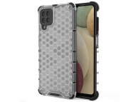 Husa Plastic - TPU OEM Honeycomb Armor pentru Samsung Galaxy A12 A125, Transparenta, Bulk
