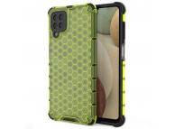 Husa Plastic - TPU OEM Honeycomb Armor pentru Samsung Galaxy A12 A125, Verde, Bulk