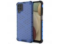 Husa Plastic - TPU OEM Honeycomb Armor pentru Samsung Galaxy A12 A125, Albastra, Bulk