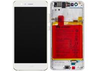 Display - Touchscreen Huawei P10 Lite, Cu Rama, Acumulator si piese, Alb 02351FSC