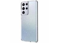 Husa Plastic - TPU UNIQ LifePro Tinsel pentru Samsung Galaxy S21 Ultra 5G, Glitter, Transparenta