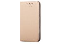 Husa Piele OEM Smart Magnet pentru Telefon 4.7 - 5.3 inci, dimensiuni interioare 150 x 75mm, Aurie