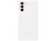 Husa Telefon Samsung Galaxy S21+ 5G, Led Cover, Alba, Resigilat EF-KG996CW
