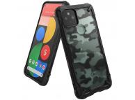 Husa Plastic - TPU Ringke Fusion X Design Camo pentru Google Pixel 5, Neagra FXGG0016