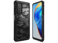 Husa Plastic - TPU Ringke Fusion X Design Camo pentru Xiaomi Mi 10T Lite 5G, Neagra XDXI0020