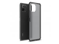 Husa Plastic - TPU Tech-Protect HYBRIDSHELL pentru Xiaomi Mi 11 Lite / Xiaomi Mi 11 Lite 5G, Frost, Neagra