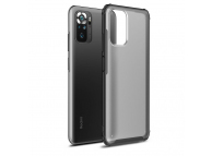 Husa Plastic - TPU Tech-Protect HYBRIDSHELL pentru Xiaomi Redmi Note 10 / Xiaomi Redmi Note 10S, Frost, Neagra