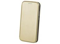 Husa Piele OEM Elegance pentru Samsung Galaxy A02s A025, Aurie
