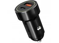 Incarcator Auto USB XO Design CC -32, 1 X USB - 1 X USB Tip-C, 20W, Quick Charge, Negru