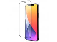 Folie Protectie Ecran HOCO pentru Apple iPhone 12 / Apple iPhone 12 Pro, Sticla securizata, Full Face, Edge Glue, Shatterproof HD A19, Neagra