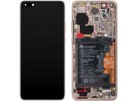 Display - Touchscreen Huawei P40 Pro, Cu Rama, cu acumulator si piese, Auriu 02353PJL
