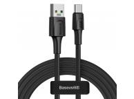 Cablu Date si Incarcare USB la USB Type-C Baseus, 2 m, VOOC QC 3.0, 5A, Negru CATSW-G01