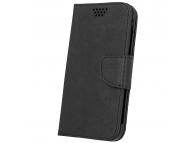 Husa Piele OEM Fancy Silicon pentru Telefon 5 inci, dimensiuni interioare 145 x 80 mm, Neagra