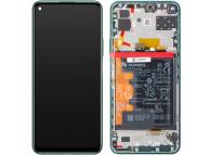 Display - Touchscreen Huawei P40 lite 5G, Cu Rama, Acumulator si piese, Verde 02353SUP
