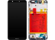Display - Touchscreen Huawei P smart (2017), Cu Rama, acumulator si piese, Negru 02351SVJ