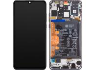 Display - Touchscreen Huawei P30 lite, Cu Rama, acumulator si piese, Negru 02352RPW