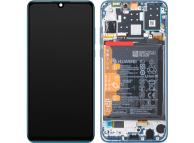 Display - Touchscreen Huawei P30 lite, Cu Rama, acumulator si piese, Albastru 02352RQA