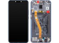 Display - Touchscreen Huawei Mate 20 Lite, Cu Rama, acumulator si piese, Albastru 02352GTT