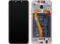 Display - Touchscreen Huawei Mate 20 Lite, Cu Rama, acumulator si piese, Auriu 02352GTV