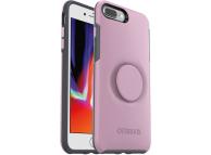 Husa Plastic - TPU OtterBox Symmetry POP pentru Apple iPhone 7 Plus / Apple iPhone 8 Plus, Roz