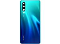 Capac Baterie - Geam Blitz - Geam Camera Spate Huawei P30, Albastru, Second Hand