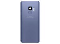 Capac Baterie - Geam Camera Spate - Senzor Amprenta Samsung Galaxy S9 G960, Albastru, Second Hand