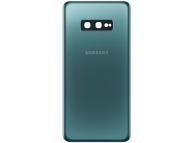 Capac Baterie - Geam Camera Spate Samsung Galaxy S10e G970, Verde, Swap