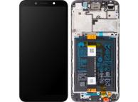 Display - Touchscreen Huawei Y5p, Cu Rama, acumulator si piese, Negru 02353RJP
