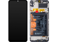 Display - Touchscreen Huawei Y6p, Cu Rama, acumulator si piese, Negru 02353LKV