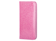 Husa Piele Forcell SHINING BOOK pentru Samsung Galaxy A12 A125, Roz Aurie
