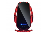 Incarcator Auto Wireless Forcell HS1, Quick Charge 15W, IR, Conectori Magnetici, Rosu