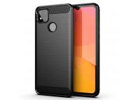 Husa TPU OEM Carbon pentru Xiaomi Redmi 9C, Neagra