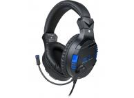Casti Gaming BigBen SETV3 PS4, cu microfon, 3.5 mm, Negre NAC0004