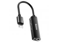 Adaptor Audio Lightning - 2 X Lightning / 3.5 Mm Baseus L52, Negru CALL52-01