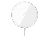 Incarcator Retea Wireless Baseus Simple Mini, MagSafe, 15W, Quick Charge, Alb WXJK-F02