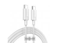 Cablu Date si Incarcare USB Type-C la USB Type-C Baseus Xiaobai, 1.5 m, 100 W, Alb CATSW-D02