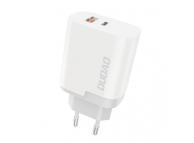 Incarcator Retea USB Dudao A6xsEU, Quick Charge, 22.5W, 1 X USB - 1 X USB Tip-C, Alb