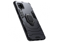 Husa Plastic - TPU OEM Magnetic Ring pentru Samsung Galaxy A12 A125, Neagra