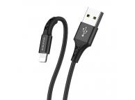 Cablu Date si Incarcare USB la Lightning Borofone BX20, 1 m, Negru