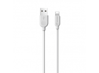 Cablu Date si Incarcare USB la Lightning Borofone BX14 LinkJet, 2 m, Alb