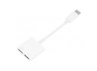 Adaptor Audio USB Type-C la USB Type-C OEM, 0.15 m, Alb