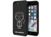 Husa TPU Karl Lagerfeld Iconik pentru Apple iPhone 8 / Apple iPhone SE (2020), Neagra KLHCI8SILFLWBK