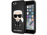 Husa TPU Karl Lagerfeld Full Body Iconic pentru Apple iPhone 8 / Apple iPhone SE (2020), Neagra KLHCI8IKPUBK