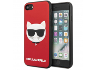 Husa Piele Karl Lagerfeld pentru Apple iPhone 7 / Apple iPhone 8 / Apple iPhone SE (2020), Iconik Embossed & Glitter, Rosie KLHCI8GLRE