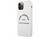 Husa TPU Karl Lagerfeld Rue St Guillaume pentru Apple iPhone 12 / Apple iPhone 12 Pro, Alba KLHCP12MSLSGWH