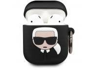 Husa Protectie Casti Karl Lagerfeld Iconic Bundle pentru Apple AirPods Gen 1 / Apple AirPods Gen 2, + Baterie Externa 2000 mA, Neagra KLBPPBOA2K