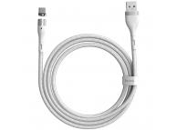 Cablu Incarcare USB la USB Type-C Baseus Magnetic, 1 m, 5A, Alb CATXC-N02