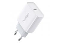 Incarcator Retea USB UGREEN CD137, 18W, Quick Charge, 1 X USB Tip-C, Alb
