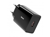 Incarcator Retea USB Baseus Speed Mini, Quick Charge, 18W, 1 X USB, Negru CCFS-W01